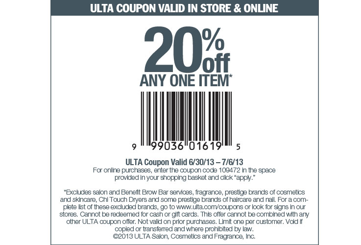 coupon for ulta beauty store